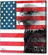 Bald Eagle American Flag Acrylic Print
