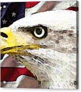 Bald Eagle Art - Old Glory - American Flag Acrylic Print