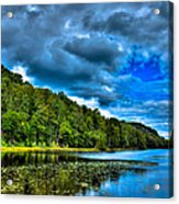 Bald Mountain Pond In Summer Acrylic Print