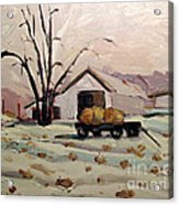 Bale Wagon  Acrylic Print by Charlie Spear