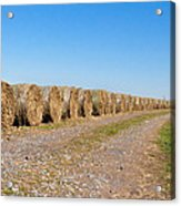 Bales Of Hay On An Old Farm Road Acrylic Print