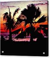 Bali Sunset Polaroid Transfer  Acrylic Print
