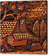 Bali Wood Carving Acrylic Print