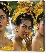 Balinese Dancers Acrylic Print by David Smith