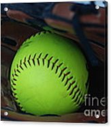 Ball And Glove Acrylic Print
