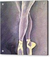 Ballerina And Kitten Acrylic Print