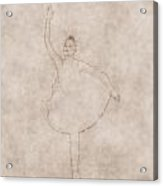 Ballerina As Old Drawing Acrylic Print