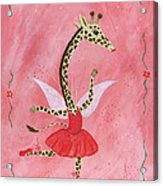 Ballerina Giraffe Girls Room Art Acrylic Print by Kristi L Randall Brooklyn Alien Art