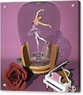 Ballerina In A Bottle - Heaven Acrylic Print