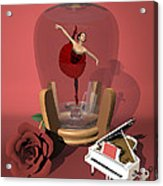 Ballerina In A Bottle - Kiko Acrylic Print