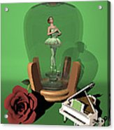 Ballerina In A Bottle - Nanashi Acrylic Print