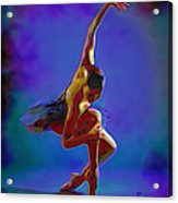Ballerina On Point Acrylic Print