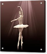 Ballerina On Pointe In Russet Tint  Acrylic Print