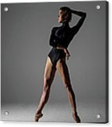 Ballerina Performing Relevé On Point Acrylic Print
