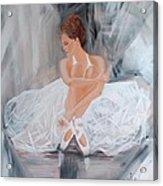 Ballerina Posing Acrylic Print