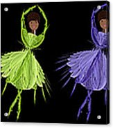 Ballerina Rainbow 2 Acrylic Print