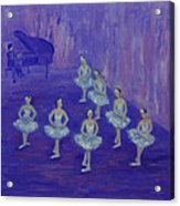 Ballerina Rehearsal Acrylic Print