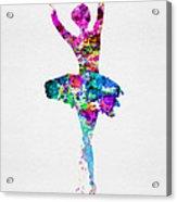 Ballerina Watercolor 1 Acrylic Print
