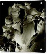 Ballerinas In Radio City Music Hall Acrylic Print