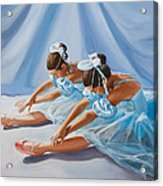 Ballet Dancers Acrylic Print by Paul Walsh
