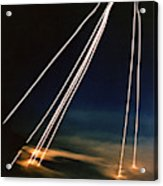 Ballistic Missile Paths Acrylic Print