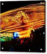 Ballons Ride At Night Acrylic Print