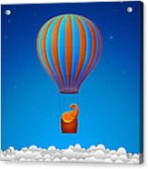 Balloon Elephant Acrylic Print by Gianfranco Weiss