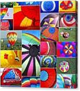 Balloon Fantasy Collage Acrylic Print