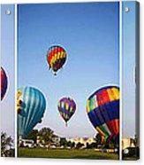 Balloon Festival Panels Acrylic Print