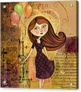 Balloon Girl Acrylic Print