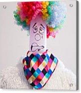 Balloon Heads - Derpie The Clown Acrylic Print