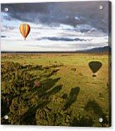 Balloon In Masai Mara National Park Acrylic Print