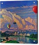 Ballooning On The Rio Grande Acrylic Print