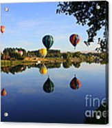 Balloons Heading East Acrylic Print by Carol Groenen