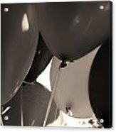 Balloons In Sepia Acrylic Print