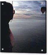 Balloons Over Burgundy Acrylic Print