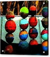 Balls From Heaven Acrylic Print by Claudette Bujold-Poirier