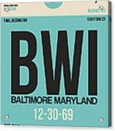 Baltimore Airport Poster 1 Acrylic Print