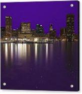 Baltimore Bleeds Purple Believe Acrylic Print