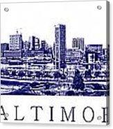 Baltimore Blueprint Acrylic Print