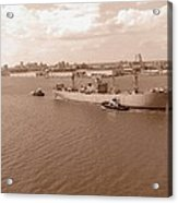 Baltimore Harbor In Sepia Acrylic Print