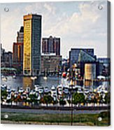 Baltimore Harbor Skyline Panorama Acrylic Print