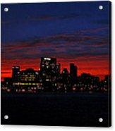 Baltimore Harbor Sunset Acrylic Print