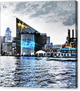 Baltimore - Harborplace - Inner Harbor At Night  Acrylic Print