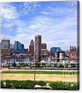 Baltimore Inner Harbor Beach Acrylic Print by Olivier Le Queinec
