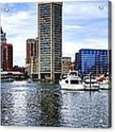 Baltimore Inner Harbor Marina Acrylic Print by Olivier Le Queinec