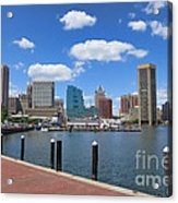 Baltimore Inner Harbor Acrylic Print by Olivier Le Queinec