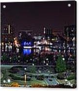 Baltimore Inner Harbor Skyline Night Panorama Acrylic Print