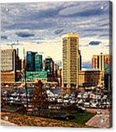 Baltimore Inner Harbor Skyline Panorama Acrylic Print