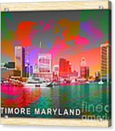 Baltimore Maryland Skyline Acrylic Print